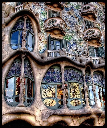 A Gaudí Building in Barcelona, Spain